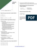 BAB IV Sistem Persamaan Linear Dan Kuadrat
