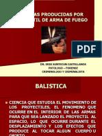 Balistica de Efectos Dr. Erik Suntecun Castellanos