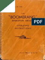CAC Boomerang Flight Manual