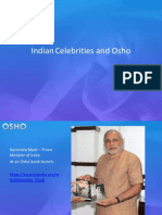 Indian Politicians & Celebrities Osho 2016