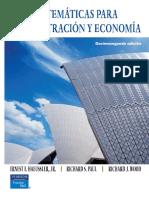 Matematicas Para Administracion y Economia 12 Edicion Paul Wood