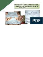 Actividad de Aprendizaje y Retroalimentacion Del Tema de Tipología de Textos Aplicado en El Salon de Clases