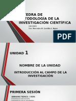 Catedra de Metodologia de La Investigacion Cientifica Unidad 1