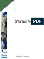 Schedule Levels