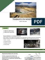 Trabajos en Mineria