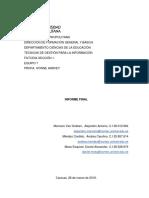 Informe Final Pasos Para un Proyecto METODOLOGIA