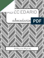 Abecedario - Mayúsculas y Minúsculas - Blanco y Negro