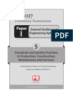 5. Standards and Quality Practices in Production, Construction, Maintenance and Services