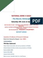 Scotish National Demo 4 Gaza Saturday June 5, 2010