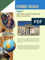 Estudios Sociales. Unidad 2. Historia Política Reciente de El Salvador Unidad 2