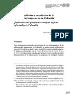 Informalidad Empresarial en Colombia
