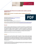 Concepciones de Profesores de Secundaria Sobre Enseñar y Aprender Historia Con TIC1