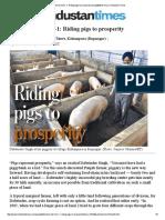 Futuristic farmers-1_ Riding pigs to prosperity _ punjab$dont-miss _ Hindustan Times