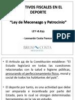 Presentacion Incentivos Fiscalces Deporte 2012