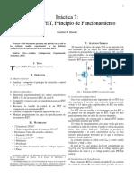 Transistor JFET, Principio de Funcionamiento.