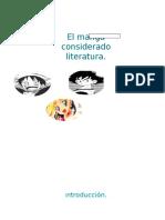 El Manga considerado literatura?