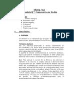 Informe final de laboratorio de Circuitos Eléctricos 1