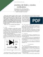 Informe 1 Curva Caracter Stica Del Diodo y Circuitos Rectificadores