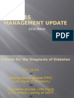 Diabetes Management Update