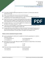 Grade 8 Canadian Math Kangaroo Contest Sample Paper