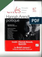 Hannah Arendt y la crisis de los refugiados inmigrantes Apatrídia