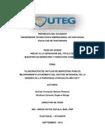 Elaboración de Un Plan de Marketing Para El Mejoramiento Económico Del Sector Artesanal de La Madera