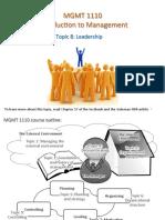 MGMT1110 Topic 8 leadership.pdf