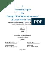 Dissertation Report on Putting HR on Balanced Scorecard a Case Study of Verizon1 (2)