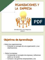 Las Organizaciones y Las Empresas