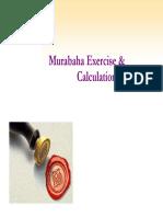 Murabaha - Exercise & Calculations Ahmed Ali