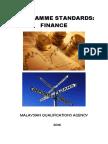 Program Standards Finance