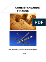 Program Standards Finance