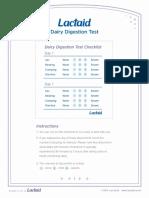 Dairy Digestion Test