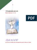 El Fundamento de La Fe por el pastor miguel Guzmán Villeta