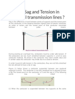 General Definition of Sag and Tension in Electrical Transmission Lines