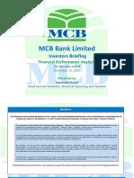 MCB Bank IR Presentation - December 2015