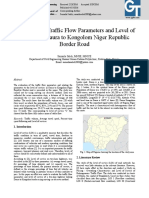 Evaluation of Traffic Flow Parameters and Level of Service on Daura to Kongolom Niger Republic Border Road.pdf
