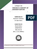 Sociology Manish Behra. Sem III. Roll No.-66. Sociology Major Project