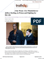 Truthdigger of the Week CIA Whistleblower Jeffrey Sterling - In Prison and Fighting for His Life by Truthdig September 25, 2016