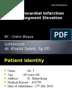 STEMI whole anterior onset  24 hours killip I