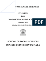B.a. (Honours) Social Sciences Part-I(Semester I & II)