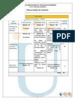 Rubrica Analitica de Evaluacion Inf Est