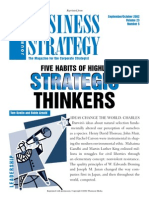 Five Habits Of Highly Strategic Thinkers