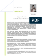 Employment. Changing of Employee Contracts