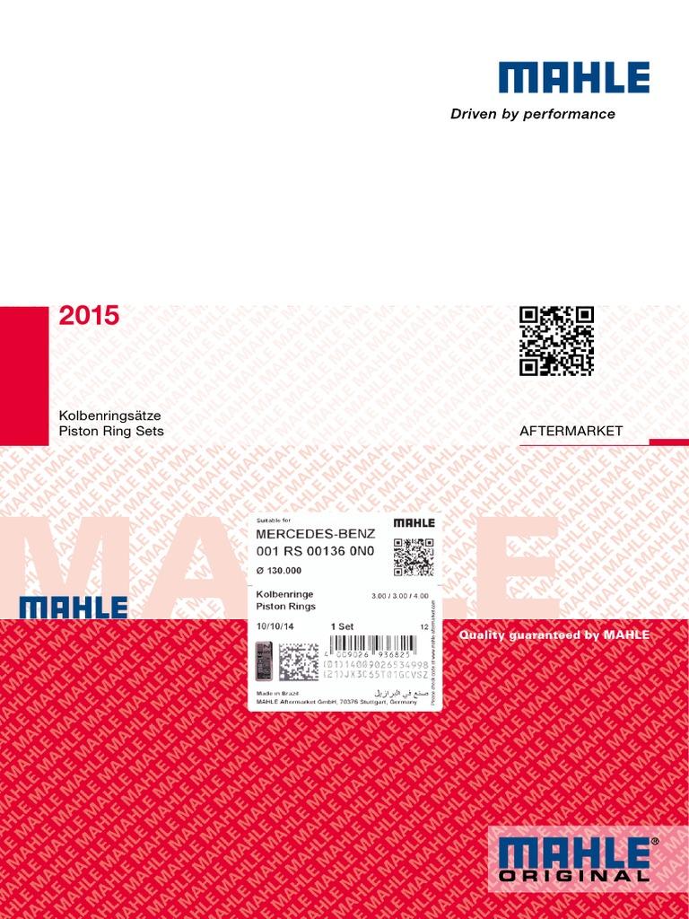 PISTONE ORIGINALE MAHLE ORIGINALE 001 97 02