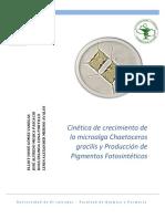 Cinetica de Crecimiento de Microalga Chaetoceros gracilis