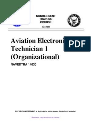 Aviation Electronics Technician 1 (Organizational): NAVEDTRA 14030