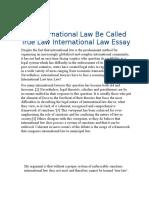 Can International Law Be Called True Law International Law Essay
