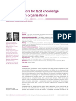 [2009]-Relevant Factors for Tacit Knowledge Transfer Within Organizations