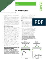Flextural Strength ASTM C1399 vs ASTM C1609